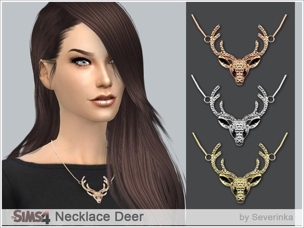 Sims 4 Necklace Deer at Sims by Severinka