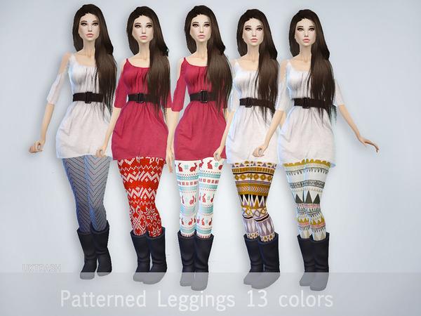 Pattern Leggings by UKTRASH at TSR image 4131 Sims 4 Updates