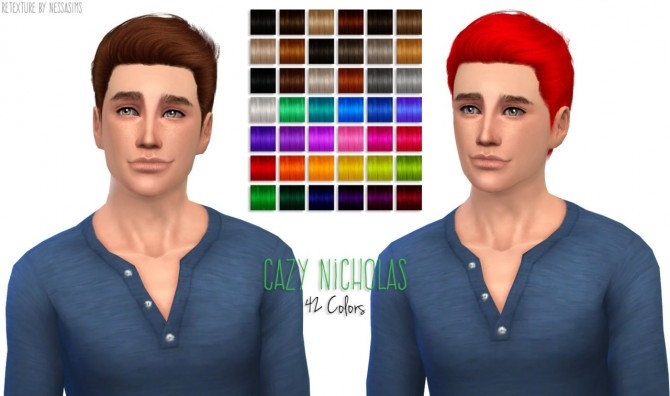 8 retextures each hair in 40 colors at Nessa Sims image 4135 Sims 4 Updates