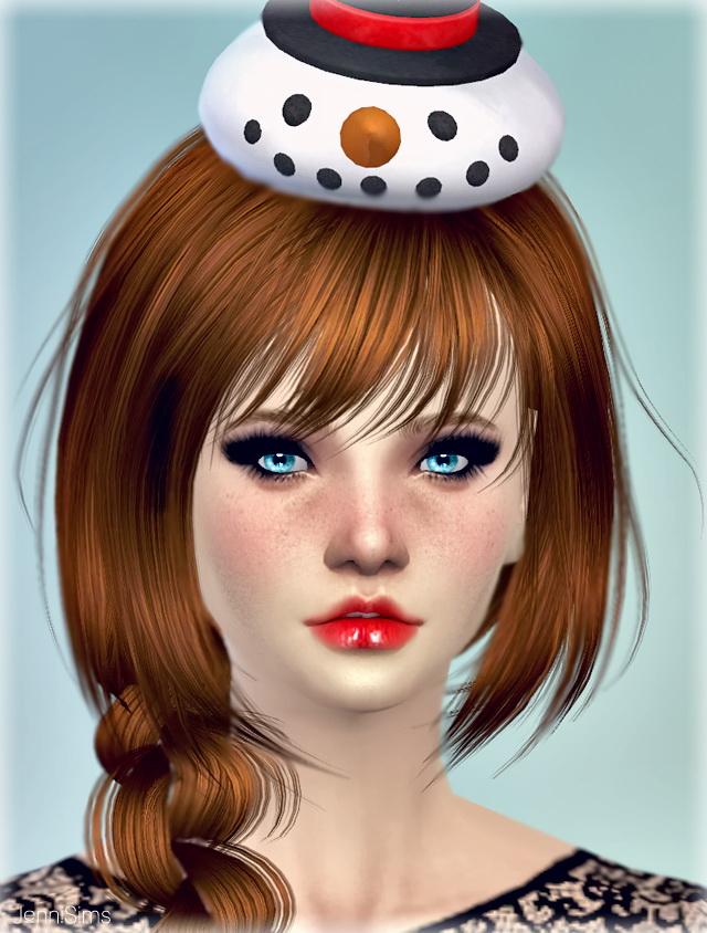 SnowMan Hat Christmas at Jenni Sims image 4214 Sims 4 Updates