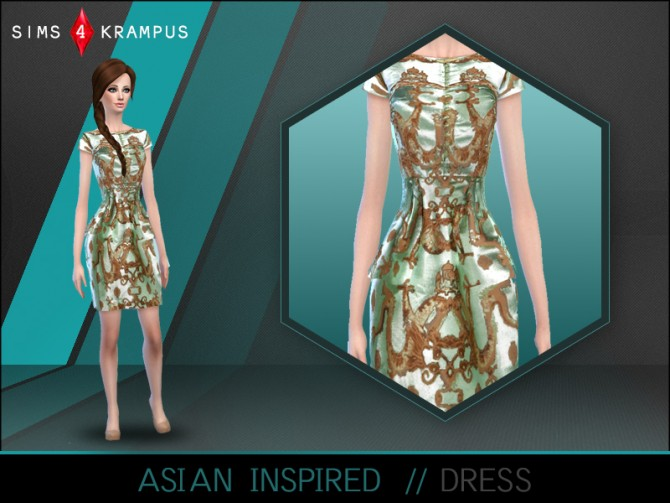 Sims 4 Asian inspired dress at Sims 4 Krampus