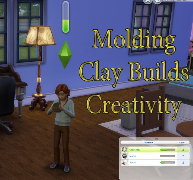 Sims 4 Molding Clay Builds Creativity by scumbumbo at Mod The Sims