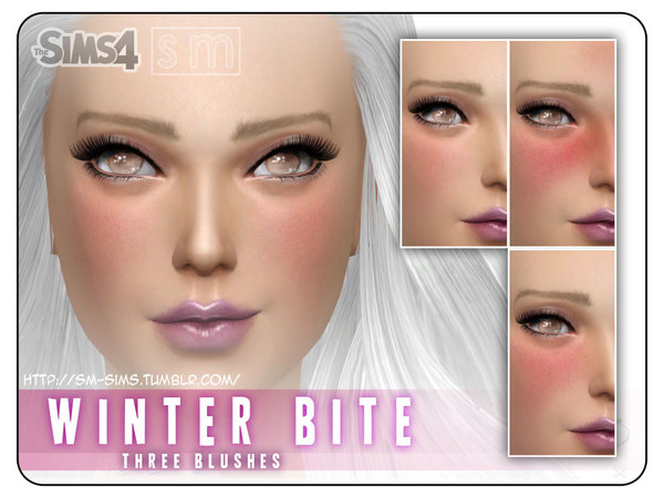 Sims 4 Winter Bite Gentle Blush by Screaming Mustard at TSR