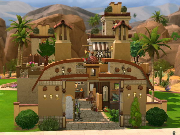 Sims 4 Bazaar lot by Leander Belgraves at TSR