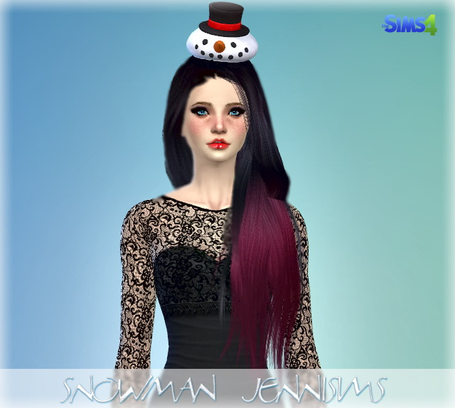 SnowMan Hat Christmas at Jenni Sims image 4313 Sims 4 Updates
