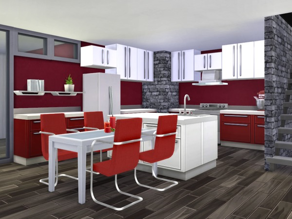 Sims 4 Yuletide modern home by chemy at TSR