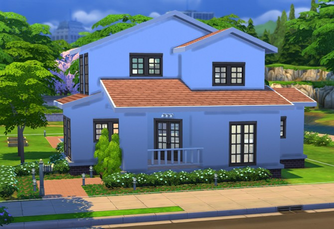 Simple house 5 by ra2rd at mod the sims sims 4 updates for Minimalist house sims 2