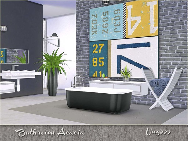 Acacia bathroom by ung999 at tsr sims 4 updates for Bathroom design simulator