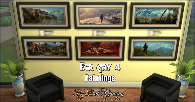 Far Cry 4 paintings by Bakie at Mod The Sims image 4419 Sims 4 Updates