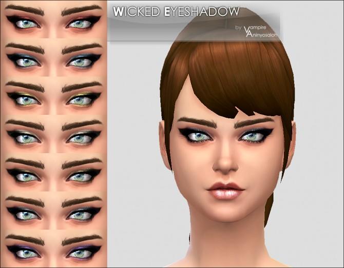 Sims 4 Wicked Eyeshadow by Vampire aninyosaloh at Mod The Sims