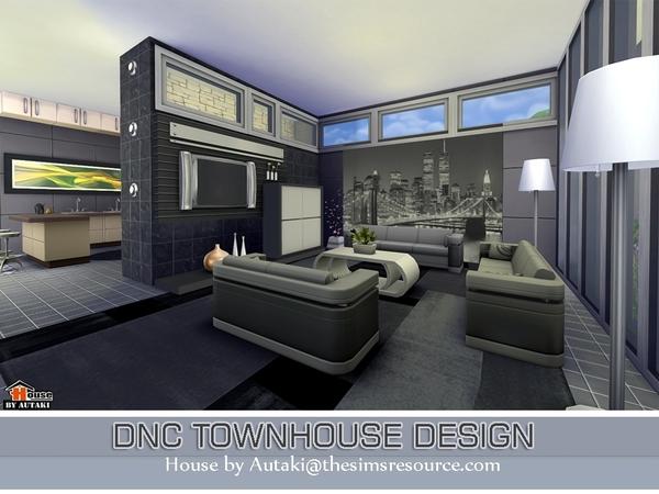 Sims 4 DNC Townhouse Design by Autaki at TSR