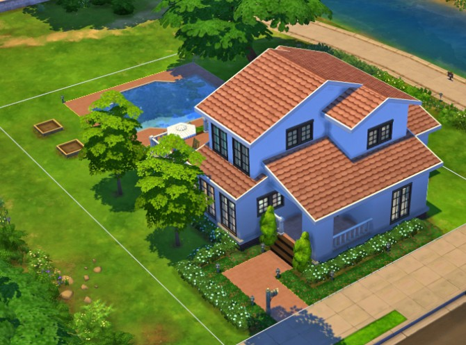 Simple house 5 by ra2rd at mod the sims sims 4 updates for Simple sims 3 house plans