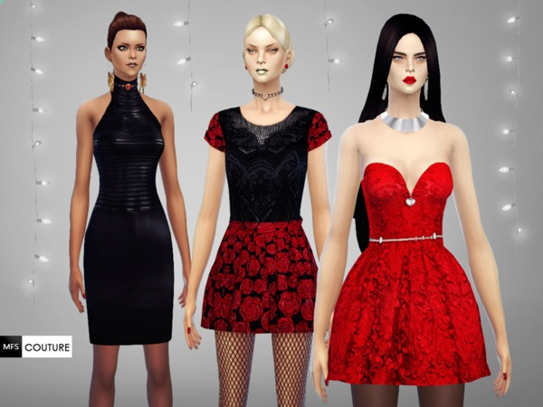 MFS Glamour Holidays dresses by MissFortune at TSR image 4713 Sims 4 Updates