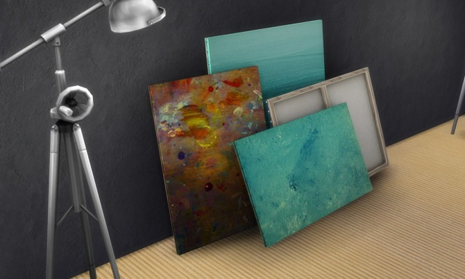 2 painting recolors : Stack of paintings at K hippie image 4716 Sims 4 Updates