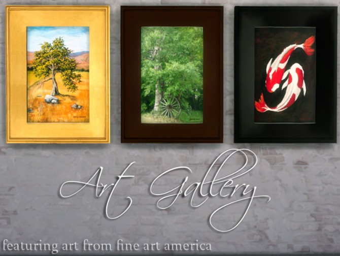 Sims 4 Fine Art America Painting by mustluvcatz at Mod The Sims