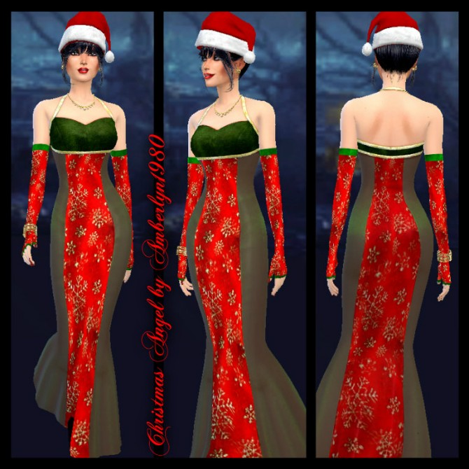 Sims 4 Christmas gown at Amberlyn Designs