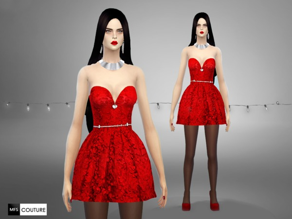 MFS Glamour Holidays dresses by MissFortune at TSR image 4812 Sims 4 Updates
