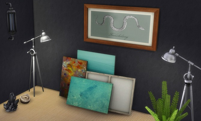 2 painting recolors : Stack of paintings at K hippie image 4815 Sims 4 Updates