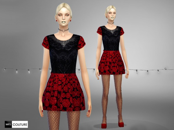 MFS Glamour Holidays dresses by MissFortune at TSR image 4912 Sims 4 Updates
