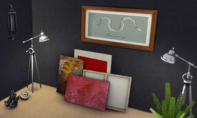 2 painting recolors : Stack of paintings at K hippie image 4915 Sims 4 Updates