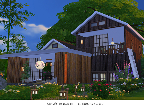 Sims 4 Wu Qi soup Inn house by Trecicy at TSR