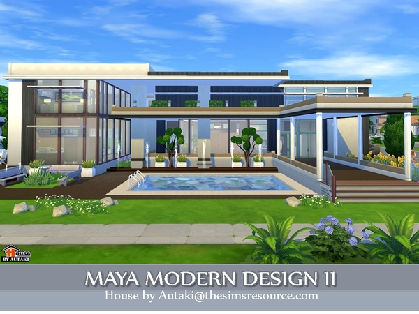 Maya Modern Design 2 By Autaki At TSR Sims 4 Updates