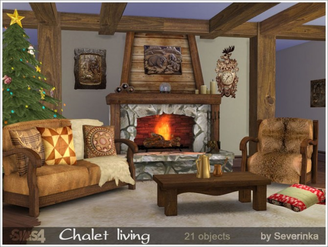 Chalet living at Sims by Severinka image 5018 Sims 4 Updates