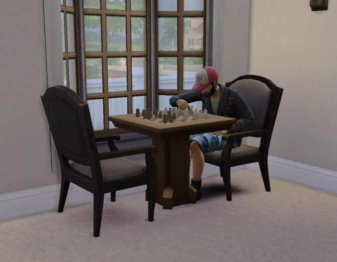 """Sims 4 Maxis """"Cloud"""" chair as desk/dining chair by plasticbox at Mod The Sims"""