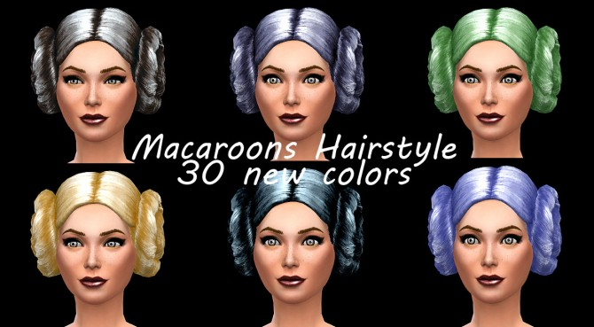 Sims 4 Macaroons Hair recolors by Simalicious at Mod The Sims
