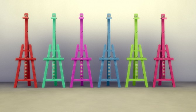 Sims 4 Easel recolors by Steve7859 at Mod The Sims