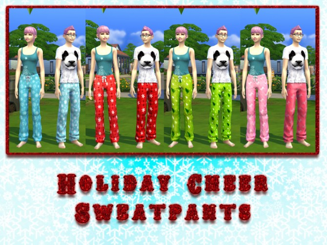 Holiday Cheer Sweatpants by xegtx at Mod The Sims image 5210 Sims 4 Updates