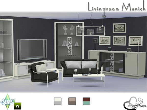 Sims 4 Munich livingroom by BuffSumm at TSR