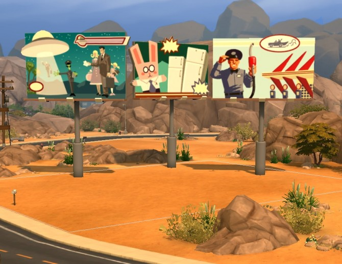 Liberated street deco by plasticbox at mod the sims sims for Deco appartement sims 4