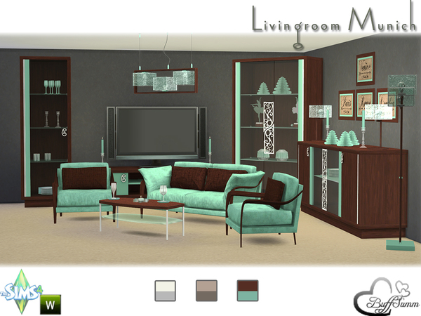 Munich livingroom by BuffSumm at TSR image 5415 Sims 4 Updates