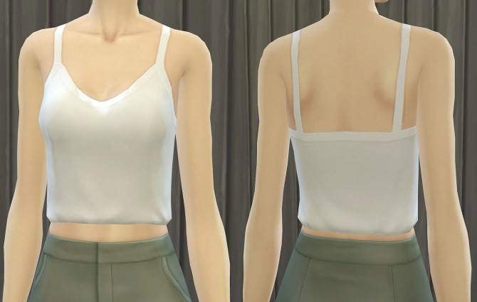 Simple Slouchy Tank at Pickypikachu image 5423 Sims 4 Updates