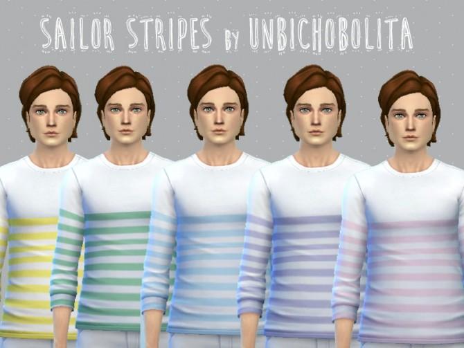 Sims 4 Sailor stripes tops at Un bichobolita