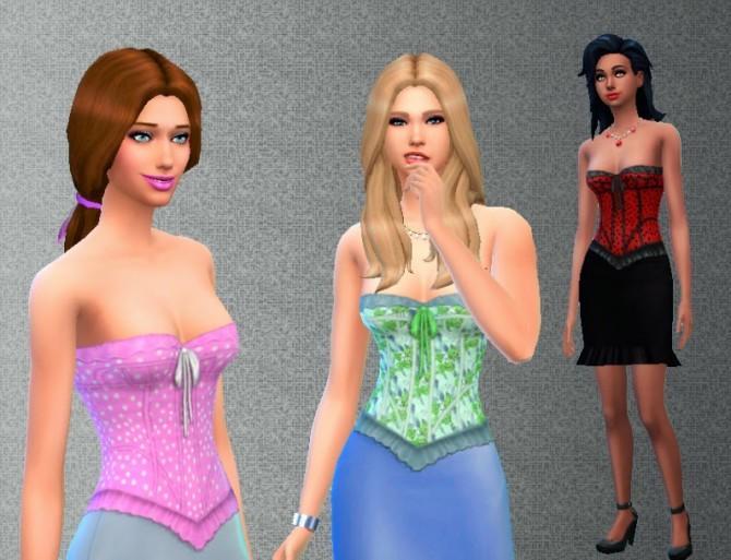 Sims 4 Lace Corset by Kiara at My Stuff