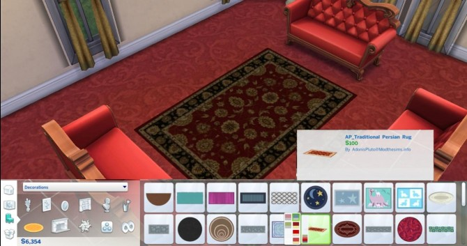 6 Traditional Persian Rug by AdonisPluto at Mod The Sims image 5820 Sims 4 Updates