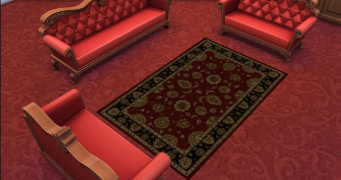 Sims 4 6 Traditional Persian Rug by AdonisPluto at Mod The Sims