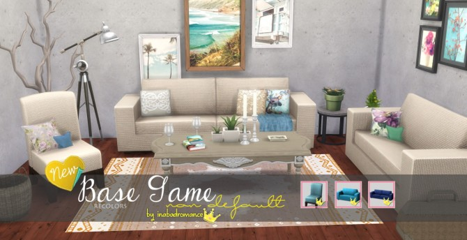 Sims 4 Sofa, loveseat and chairs at In a bad Romance