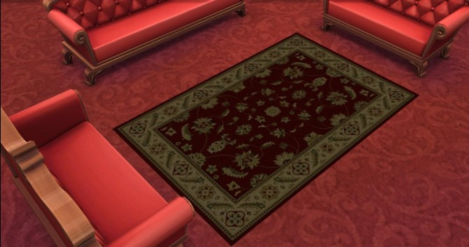 6 Traditional Persian Rug by AdonisPluto at Mod The Sims image 6019 Sims 4 Updates
