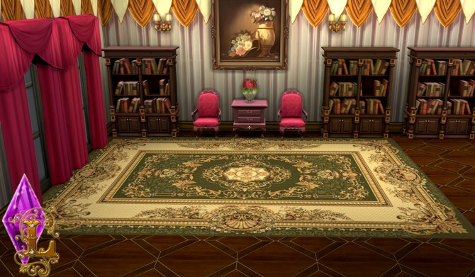 Sims 4 Rug Set 01 at Ladesire