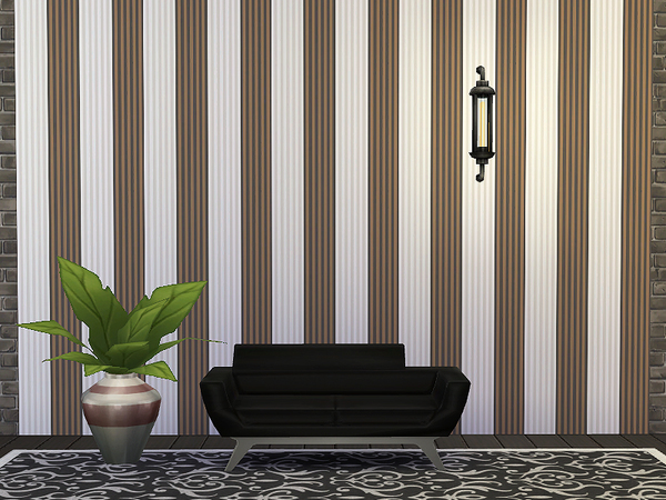 Striped Wallpaper by Rirann at TSR image 6109 Sims 4 Updates