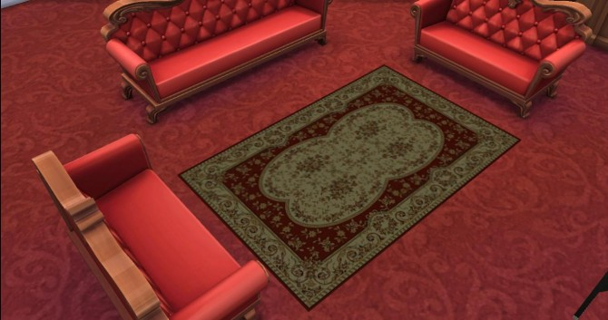 6 Traditional Persian Rug by AdonisPluto at Mod The Sims image 6123 Sims 4 Updates