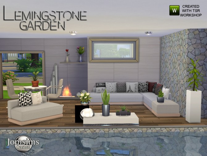 Sims 4 Lemingstone Modern Garden by jomsims at TSR