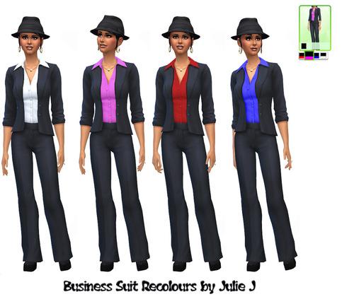 Sims 4 Female Business Suit Recolours at Julie J