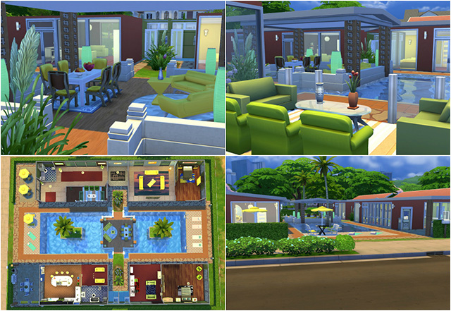 Around the pool villa by Sim4fun at Sims Fans image 6313 Sims 4 Updates