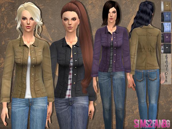 Sims 4 Casual jacket by sims2fanbg at TSR