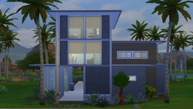 Sims 4 Modern Cube house by RayanStar at Mod The Sims