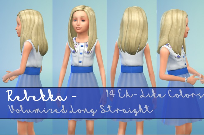 Rebekka EAs Volumized Straight Hair for Girls by Kubrick at Mod The Sims image 6510 Sims 4 Updates